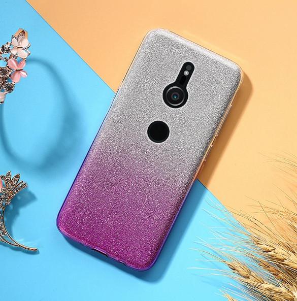 Силиконовый чехол градиент блеск для Sony Xperia XZ3 (H9436)