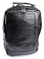 Черный кожаный рюкзак с отделением для нетбука 8834 Black
