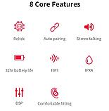 Беспроводные Bluetooth наушники QCY QS2 Черный, фото 6