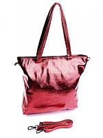 Большая женская кожаная сумка красная 8824-7 Red