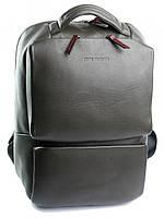 Качественный кожаный рюкзак с отделением для ноутбука хаки 1179.7 Green