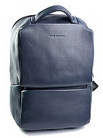 Качественный кожаный рюкзак с отделением для ноутбука синий 1179.49 Navy Blue