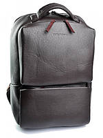 Качественный кожаный рюкзак с отделением для ноутбука коричневый 1179.4 Brown