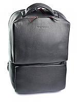 Качественный кожаный рюкзак с отделением для ноутбука черный 1179.1 Black