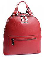 Красивый женский кожаный рюкзак красный 0220.282 Red