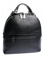Красивый женский кожаный рюкзак черный 0220.281 Black