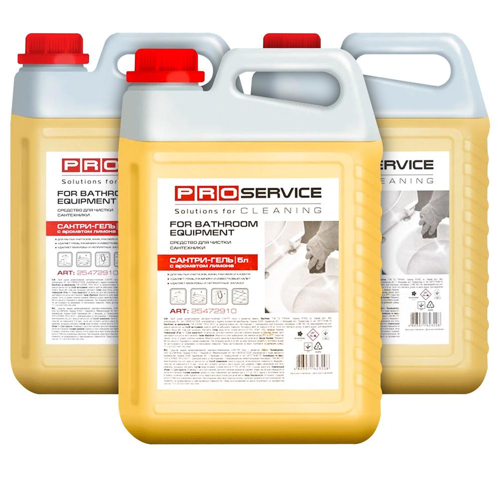 Средство для мытья и дезинфекции сантехники Сантри-Гель лимон 5 л PRO Service