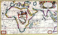 Древняя карта 88см х 147см