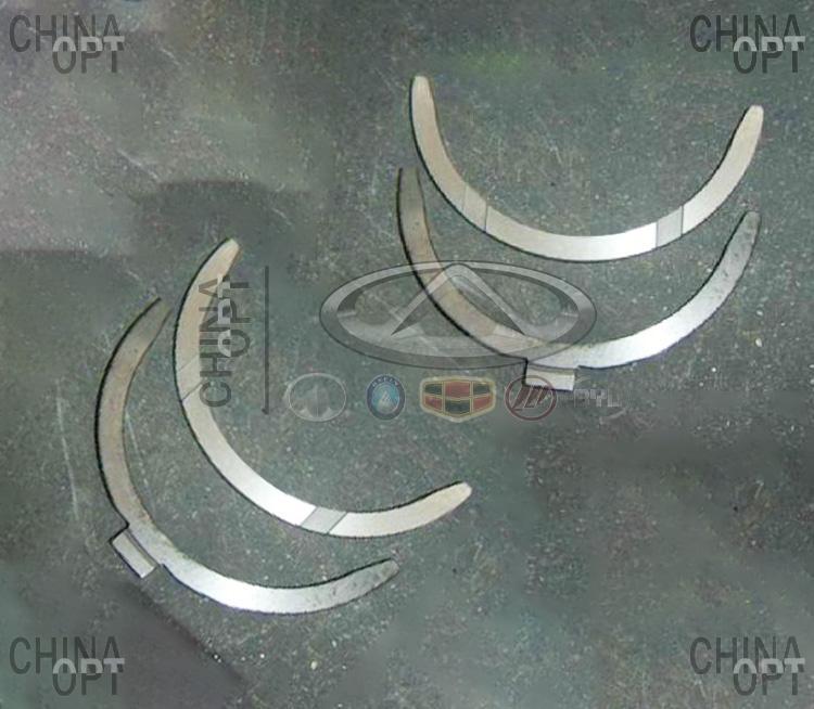 Полукольца упорные коленвала (491QE, комплект 4шт.)