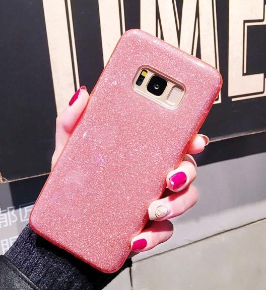 Чехол  3 в 1 с блестками на Samsung Galaxy S7 edge