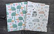Детская многоразовая непромокаемая пеленка / двухсторонняя пеленка-клеенка   - 100х80 см, фото 2