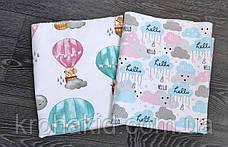 Детская многоразовая непромокаемая пеленка / двухсторонняя пеленка-клеенка   - 100х80 см, фото 3