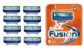 Сменные кассеты Gillette Fusion 8шт сменные картриджи джилет фюжен