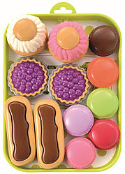 Набор пирожных с подносом 13 акс, Ecoiffier 18м+ (000980)
