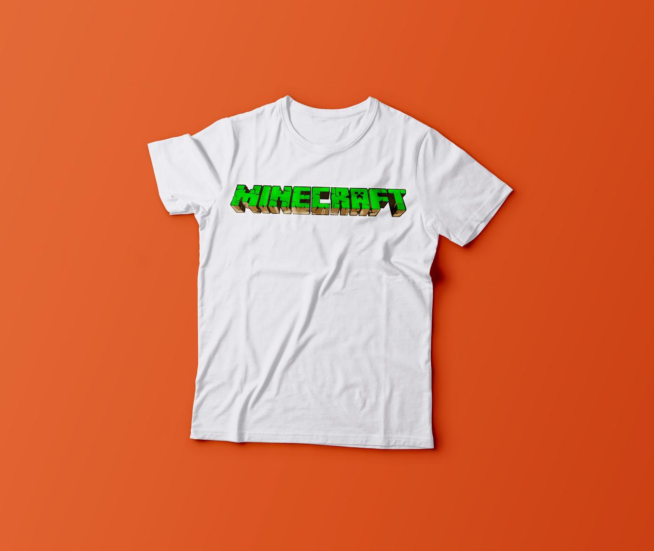 Футболка YOUstyle Minecraft 0278 140(12Y) White