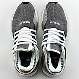 Мужские кроссовки Adidas EQT Support в стиле Адидас ЕКТ СЕРЫЕ (Реплика ААА+), фото 6