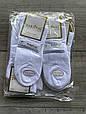 Чоловічі шкарпетки середні котон Marjinal однотонні в сітку 40-45 6 шт в уп білі, фото 3