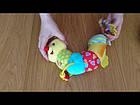 Развивающая мягкая погремушка подвес Гусеничка 30 см (звук, свет). Baby Team 8535, фото 4