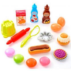 """Набор продуктов """"Вкусный десерт"""" в сетке 17 акс, Ecoiffier 18м+ (000952)"""