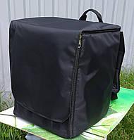 Терморюкзак, рюкзак для доставки пиццы на коробки 32*32 см с откидной передней стенкой и верхним клапаном, фото 1