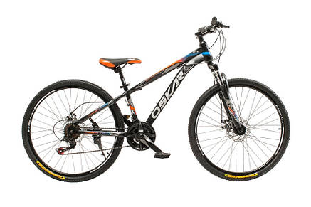 """Велосипед горный подростковый Oskar 26"""" M129 Сталь Черный с амортизацией Хардтейл Велосипед для гір MTB, фото 2"""