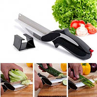 Кухонные ножницы универсальные Clever cutter Нож-ножницы 2 в 1