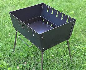 Мангал чемодан на 6 шампуров и толщиной 2 мм