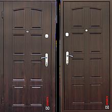 Дверь входная металлическая Sagan Model 112, Optima, Fuaro, Темный орех, 850х2050, левая