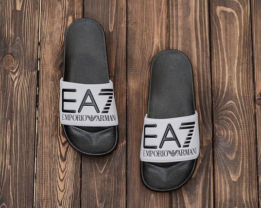 Чоловічі літні шльопанці сірого кольору ЕА7 Емпоріо Армані, фото 2