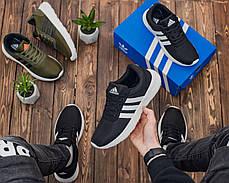 Чоловічі кросівки чорним кольором Адідас, фото 3