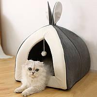 Домик для котов собак с ушками кролика