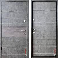 Дверь входная металлическая ZIMEN, Tira, Optima Plus, Kale, Мрамор темный / Графит, 850х2050, правое