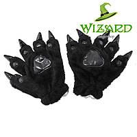 Лапы-перчатки Кигуруми черные