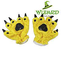 Лапы-перчатки Кигуруми желтые