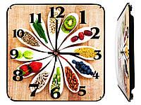 Часы настенные Montre Кухня гурмана 30х30х5 см Стекло Тихий ход 21602, КОД: 1334070