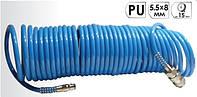 """Шланг спиральный полиуретановый 5,5*8мм L=15м  """"AIRKRAFT"""""""