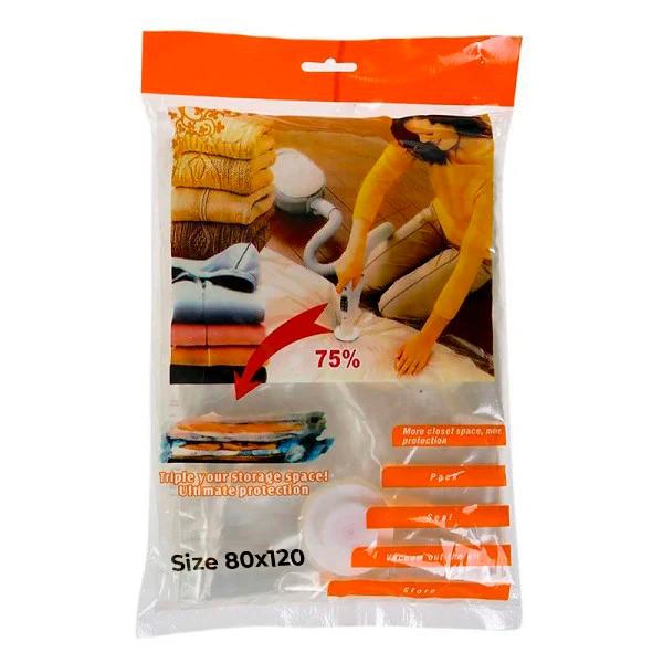 Вакуумний пакет для одягу, це, вакуумний пакет, 80x120 см., для зберігання речей, доставка з Києва
