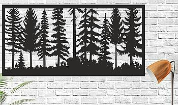 Декоративная деревянная картина Панно Handmade 0301050 100х50см Черная (1149836463)