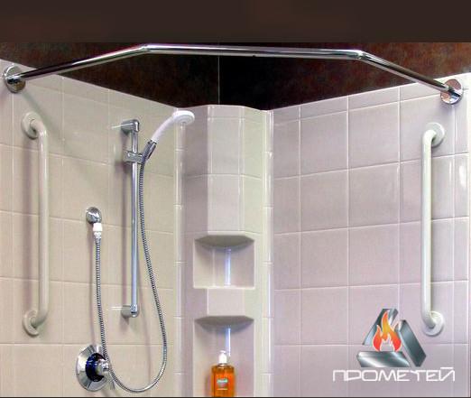 Поручні і штанги нестандартної форми під замовлення з нержавіючої сталі для шторки у ванну, Ø 20мм, 25мм, 30мм, 32мм