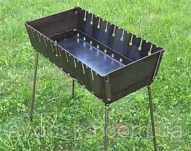 Мангал чемодан на 10 шампуров и толщиной 2 мм