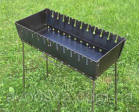 Мангал чемодан на 12 шампуров и толщиной 2 мм