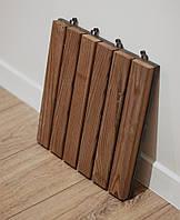 Садовый паркет-трапик декинг коричневый  HomeDeco 1м2