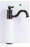 Смеситель для умывальника-чаши черно-белый  3-160, фото 2