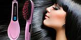 Гребінець-випрямляч FAST HAIR STRAIGHTENER HQT-906+LED, фото 3