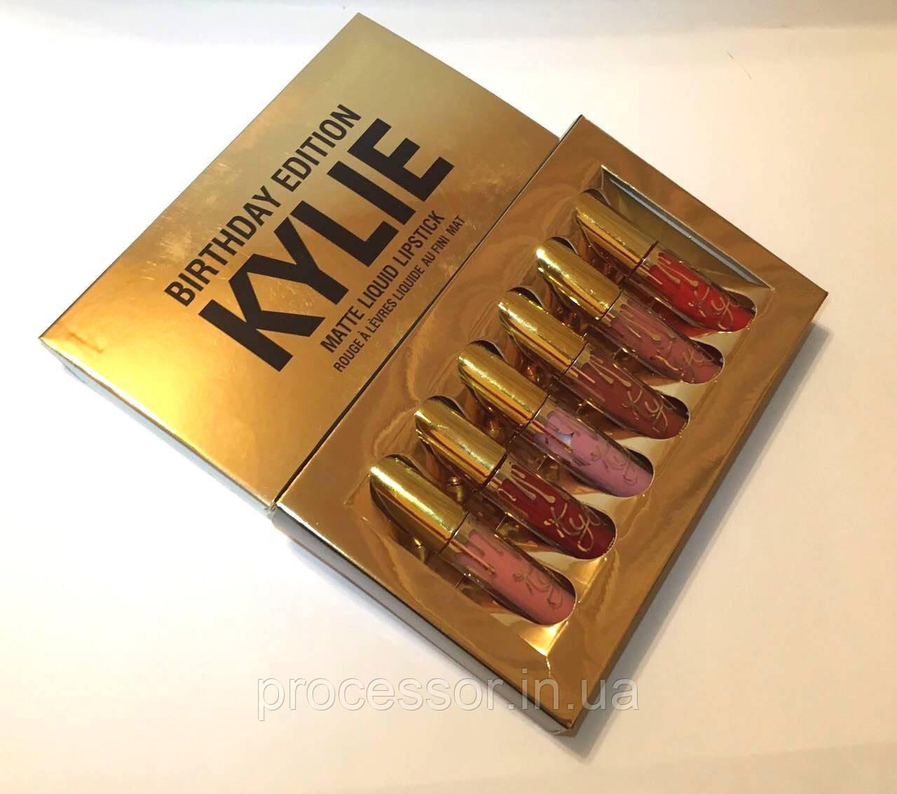 Набор матовых жидких помад Kylie Birthday Edition 6шт Оригинал! Made in U.S.A.