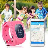 Детские смарт-часы Q50 с GPS трекером розовые, фото 4