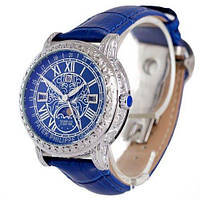 Часы Patek Philippe Sky Moon Tourbillon Quartz Ref. 6002  silver/blue. Replica: ААА., фото 1