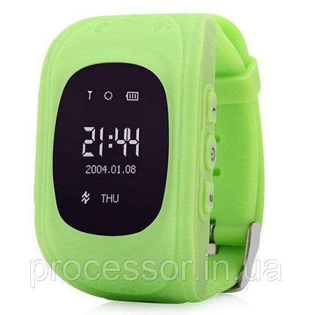Дитячі смарт-годинник Q50 з GPS трекером Зелені