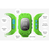 Дитячі смарт-годинник Q50 з GPS трекером Зелені, фото 4