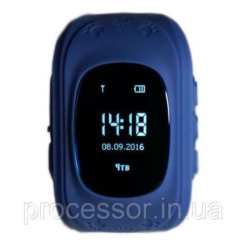 Детские смарт-часы Q50 с GPS трекером Синие